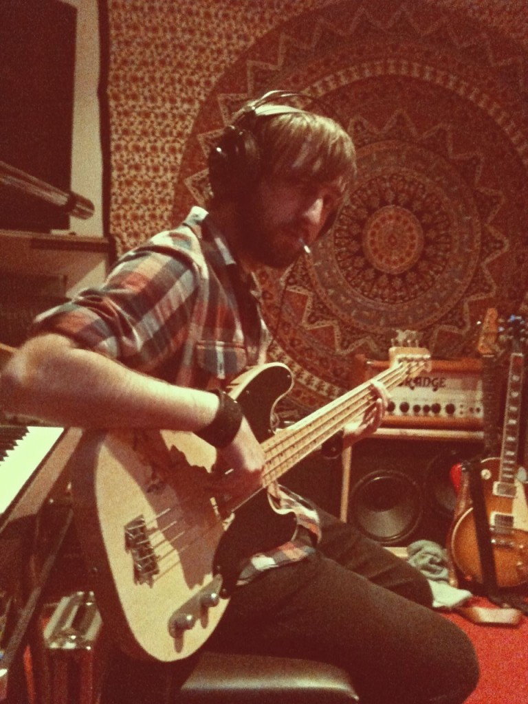Bass Guitarist Tom Sinnett - Jodie Marie Recording at StudiOwz